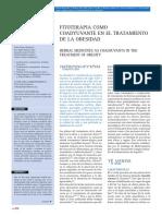 Fitoterapia Coadyuvante en El Tratamiento de La Obesidad