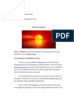 Explanation Text Sun Set