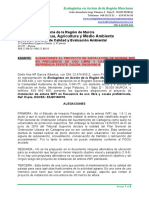 Alegaciones Antena Wifi Cabo de Palos 2016