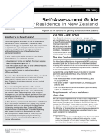 INZ 1003 Self Assess Guide for Residence in NZ 1.0 April 2016