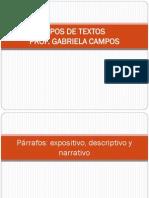 PRÁCTICA- TIPOS DE TEXTOS