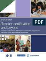 INDONESIA Teacher Certification Worlbank
