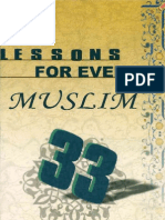 33 LESSONS FOR EVERY MUSLIM