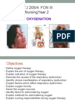 Oxygen Therapy - Facemask, Nasal Prong
