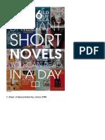 46 Brilliant Short Novels.