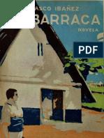 Nacimiento de la novela La Barraca de Vicente Blasco Ibáñez (esp)