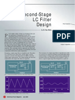Second Stage Filter Design