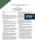 XIA_Study of Multicarrier Modulation