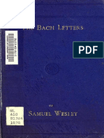 Letters of Samuel Wesley to Benjamin Jacob