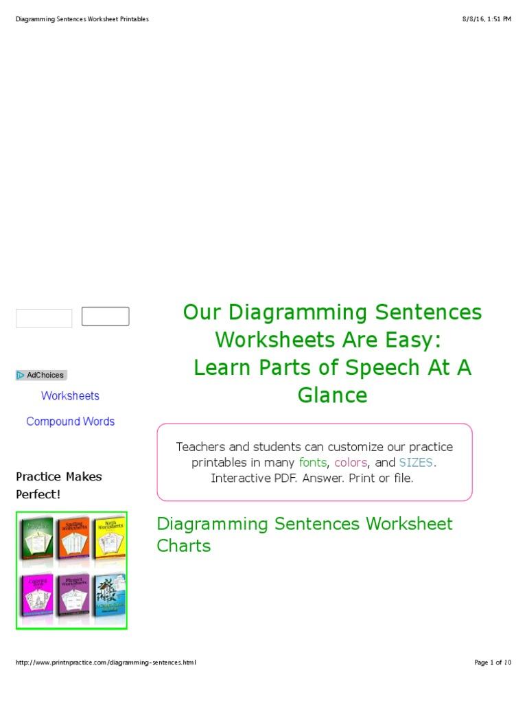 Diagramming sentences worksheet printables adverb preposition diagramming sentences worksheet printables adverb preposition and postposition ccuart Image collections