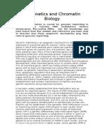 Epigenetics and Chromatin Biology