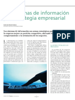 Los Sistemas de Información y La Estrategia Empresarial