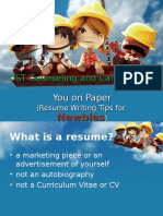 Resume Writing 3rd Year.ppt