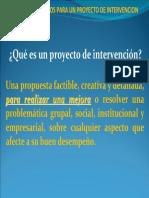 CASP. Proyecto de Intervencion. Lineamientos