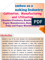 Bamboo as a Money-making Industry, Cultivation, Manufacturing and Utilization (Bamboo Products, Bamboo Used for Paper Manufacture, Bamboo Pulp, Pulp and Paper Manufacture)