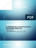 Gradiente, Difusión y Osmosis