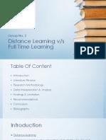 Distance v/s Full Time Learning