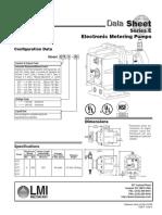 1. LMI Series E7 Metering Pump Datasheet