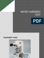 Micro Hardness