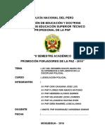 MONOGRAFIA REGIMEND DISCIPLINARIO EN SU DIFERENCIA EN SU INFLUENCIA EN LA DISCIPLINA POLICIAL - A.doc