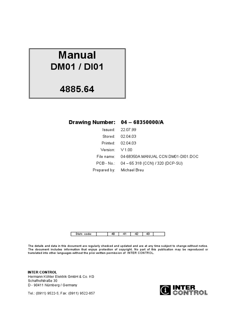 04-68350A Manual CCN DM01-DI01.pdf   Bit Rate   Electrical Connector