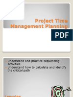 Project Time Management Planning