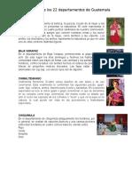 Traje Típico de Los 22 Departamentos de Guatemala
