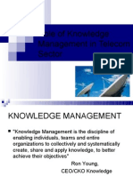 Role of Knowledge Management in Telecom Sector