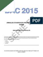 Bac 2015 Exercices