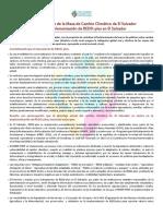 Pronunciamiento de la MCC-SLV ante la implementación de REDD-plus en El Salvador - 9Sep2016
