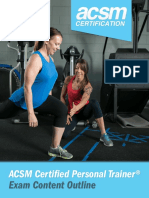 Acsm Certified Personal Trainer Exam Content Outline