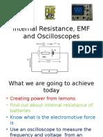 Internal Resistance Emf and Oscilloscopesppt1005