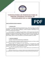 Reglamento Ponencias Congreso de Funcionarios