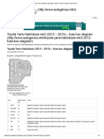 Toyota Yaris Hatchback Mk3 (2012 – 2013) – Fuse Box Diagram _ Auto Genius
