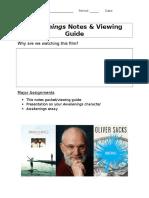 Awakenings Viewing Guide