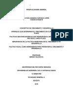 PAPER ECONOMÍA GENERAL Conceptos de Crecimiento y Desarrollo