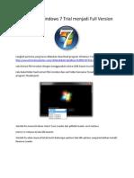 Mengubah Windows 7 Trial 30 hari Menjadi Full Versi
