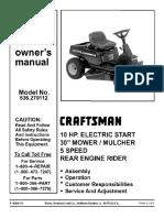 sears craftsman 53.270112 service manual