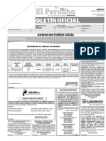 Diario Oficial El Peruano, Edición 9449. 10 de septiembre de 2016