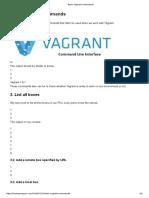 Basic Vagrant Commands