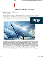 The Highs and Lows of Photovoltaic System Calculations