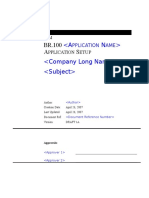 Afa C-br-100 Application Setup Document