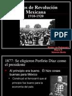 La Revolución Mexicana 1 INICIOS
