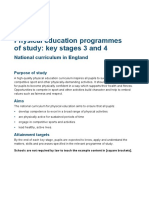 SECONDARY National Curriculum - Physical Education