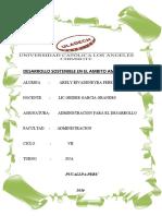 desarrollo sostenible en el ambito ambiental