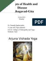 Concepts of Health and Diseasein Bhagavath Gita