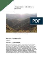 Resistência à Exploração Minerária Na Serra Do Gandarela