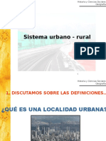 SistemaUrbano Rural