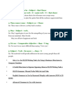 Ielts/Pte Academic  Grammer complex sentences