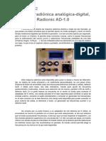 Máquina Radiónica Analógica-digital, Radionic AD-1.0